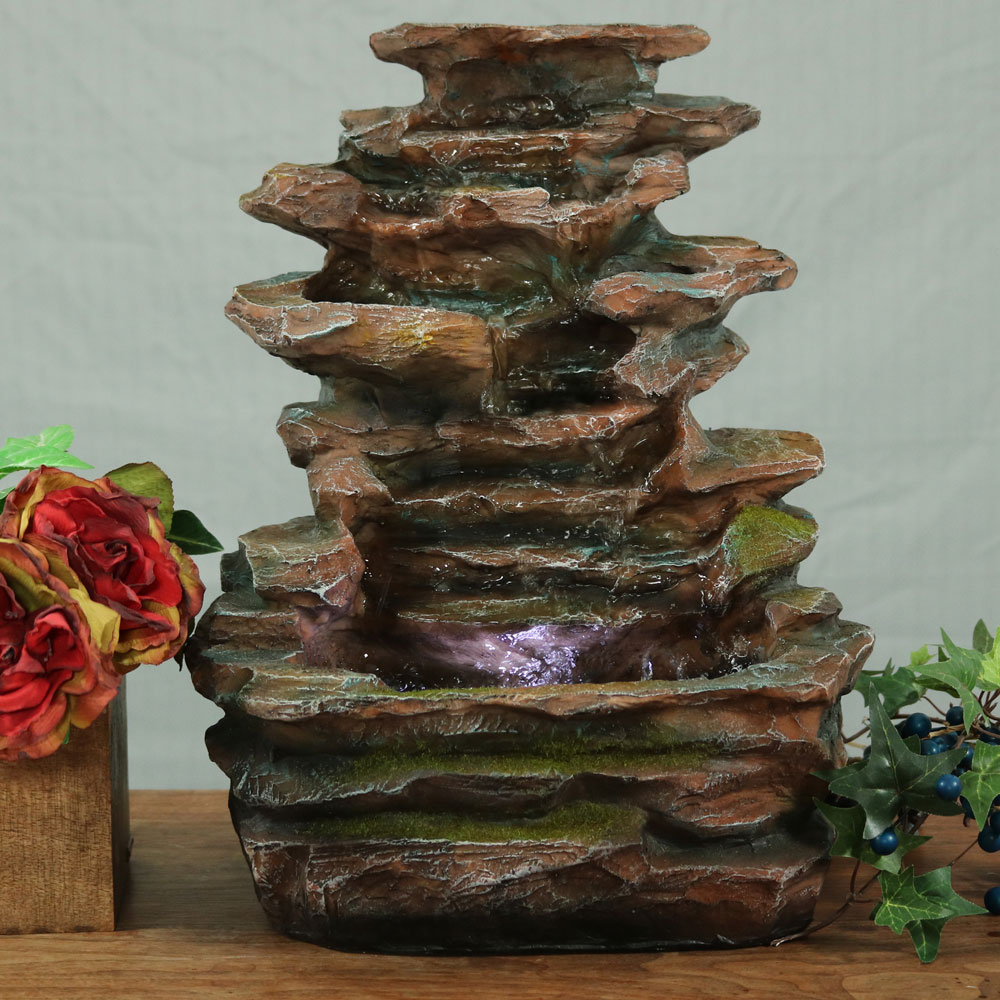 Sunnydaze Soothing Rock Falls Tabletop Fountain Image 108