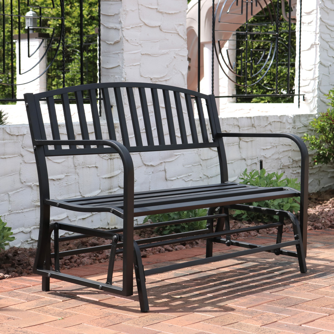 Sunnydaze Steel Outdoor Patio Glider Bench Picture 514