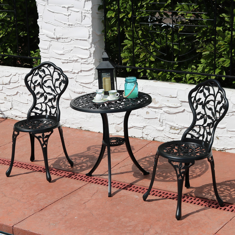 Sunnydaze Outdoor Cast Aluminum Patio Bistro Set Set Image 327