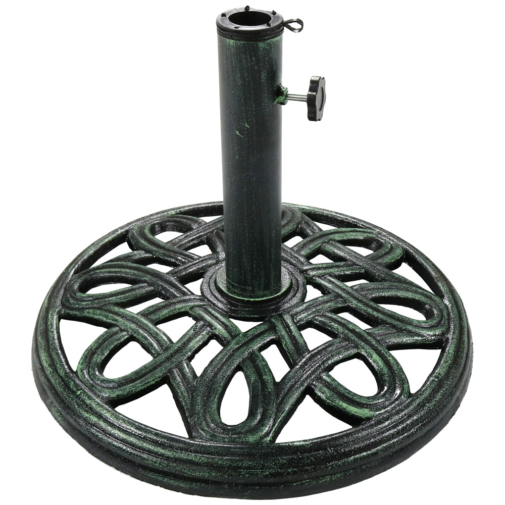 Sunnydaze Heavy Duty Round Cast Iron Outdoor Decorative Patio Umbrella Base Stand Picture 836