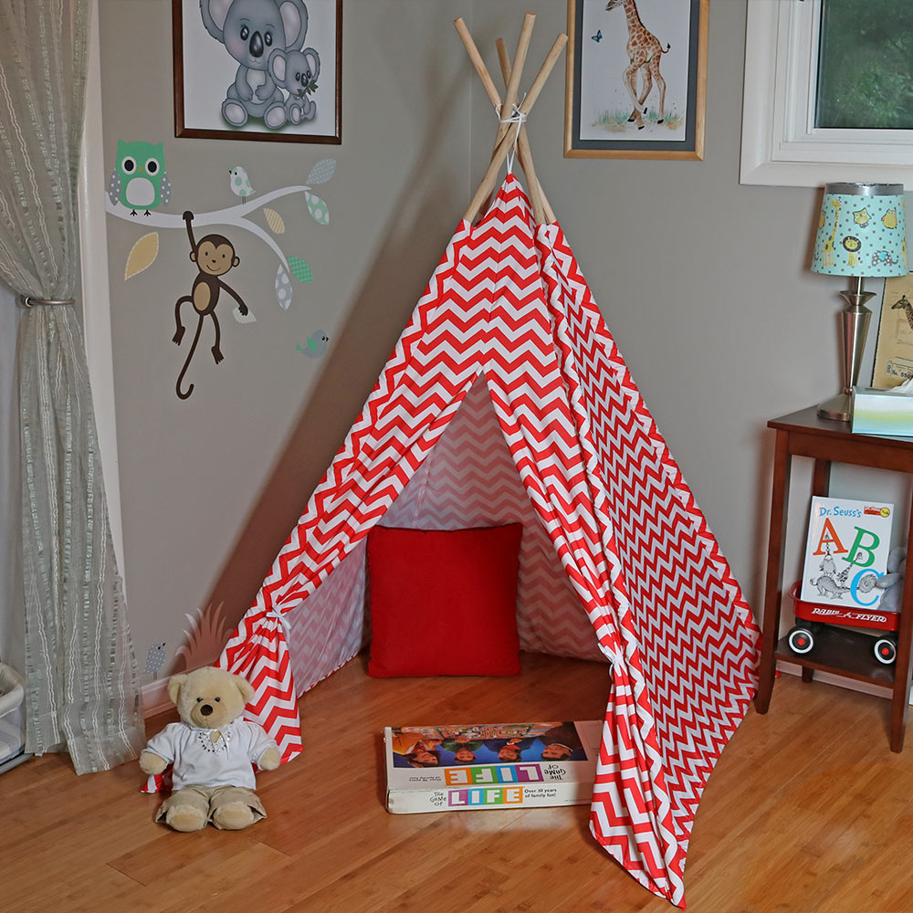 Sunnydaze Large Polyester Kids Teepee Play Tent Picture 976