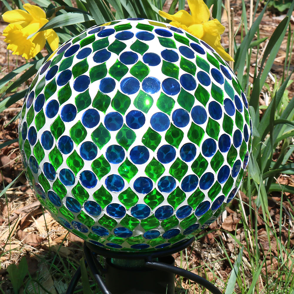Sunnydaze Mosaic Glass Gazing Globe Ball  Image 765