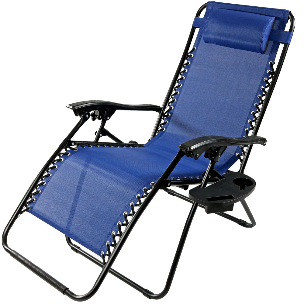 Oversized zero gravity lounge chair w pillow cup holder multiple options ebay - Oversized zero gravity lounge chair ...