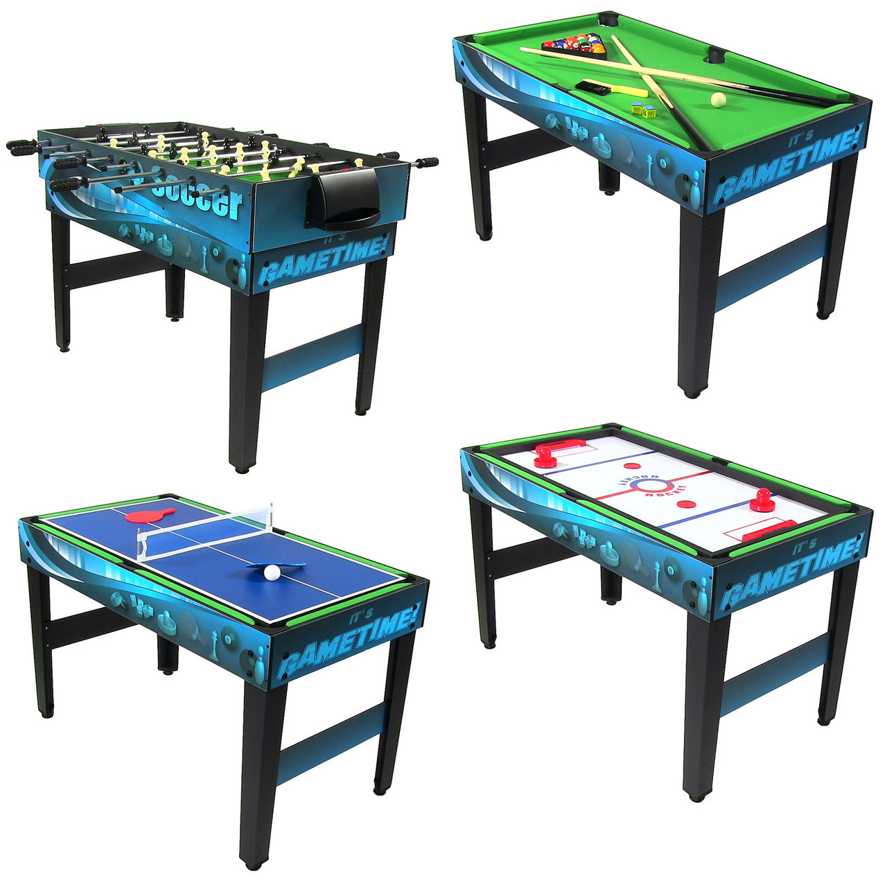 Multi game 10 in 1 kids game table billiards foosball for 10 pool table