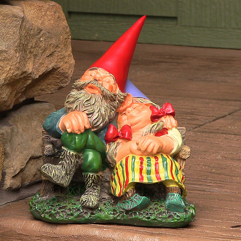 Gnome In Garden: Woodland Garden Gnomes, Lawn Accent, Fun Decor