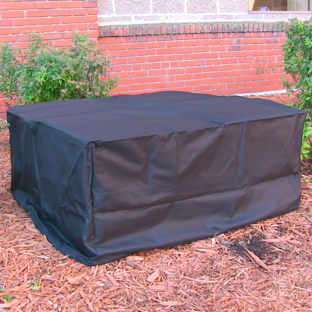 Heavy Duty Fire Pit Cover, Square, Black - Weather ...
