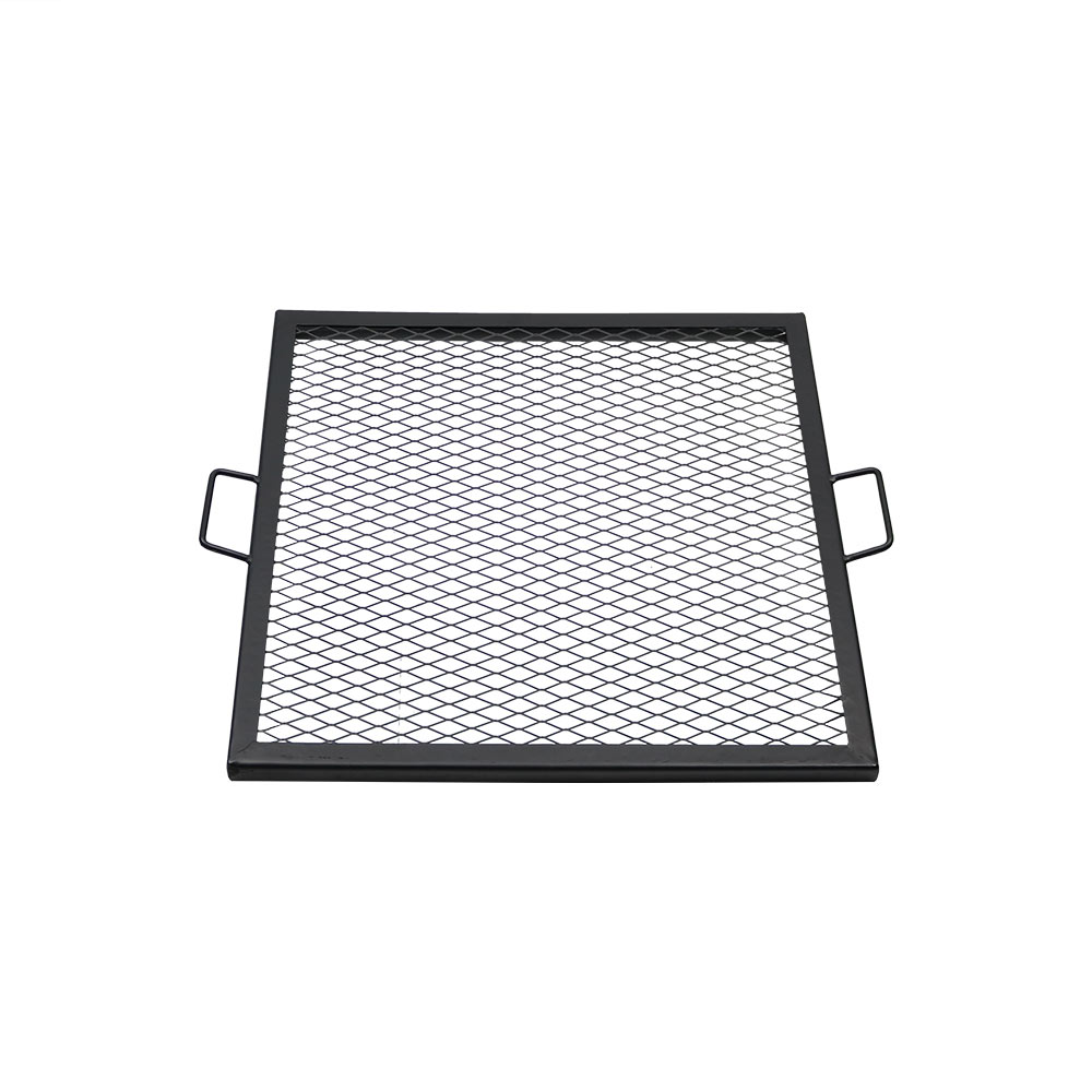 X marks square fire pit cooking grill durable steel grate for Square fire ring