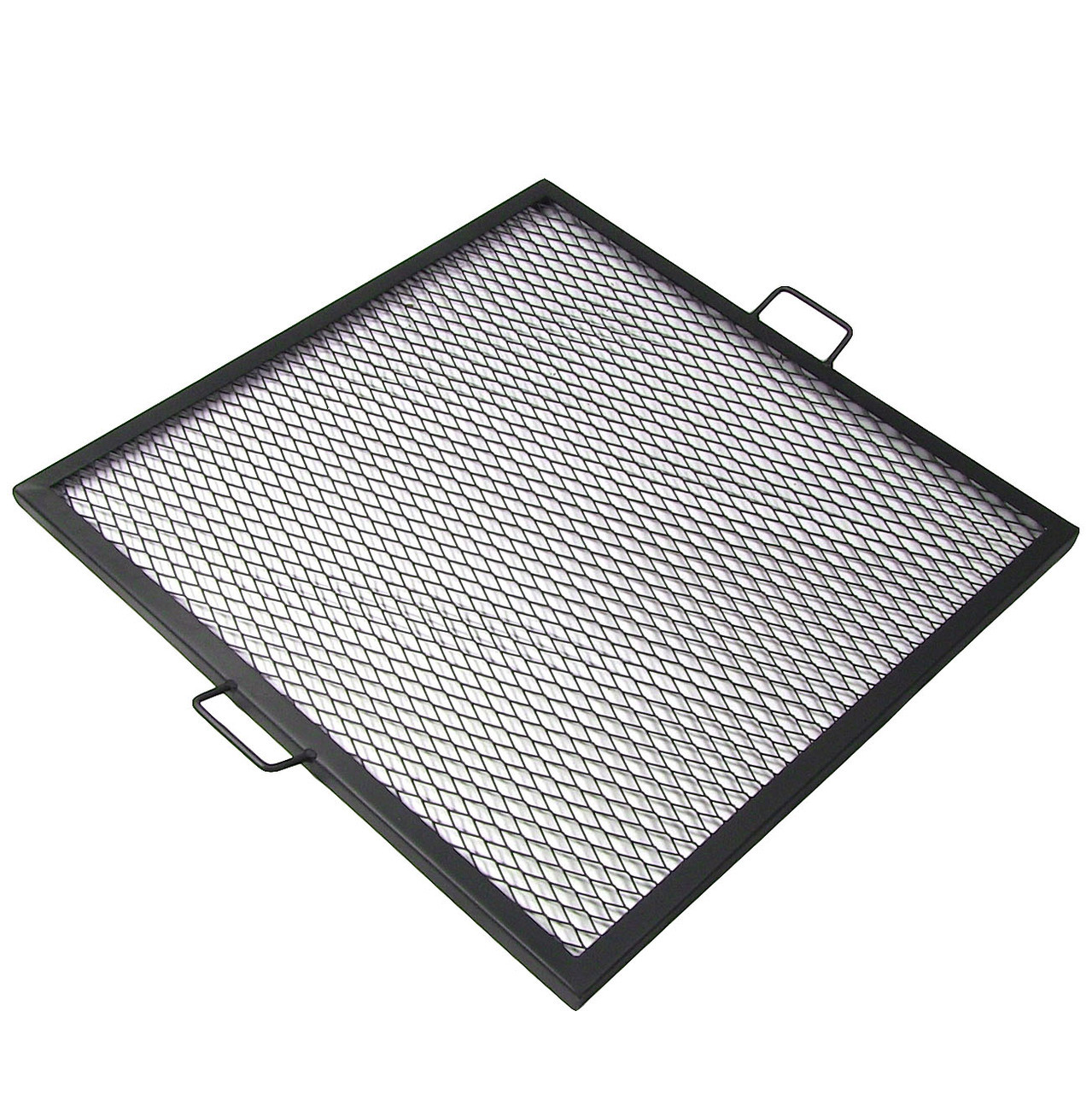 X-Marks Square Fire Pit Cooking Grill, Durable Steel Grate ...