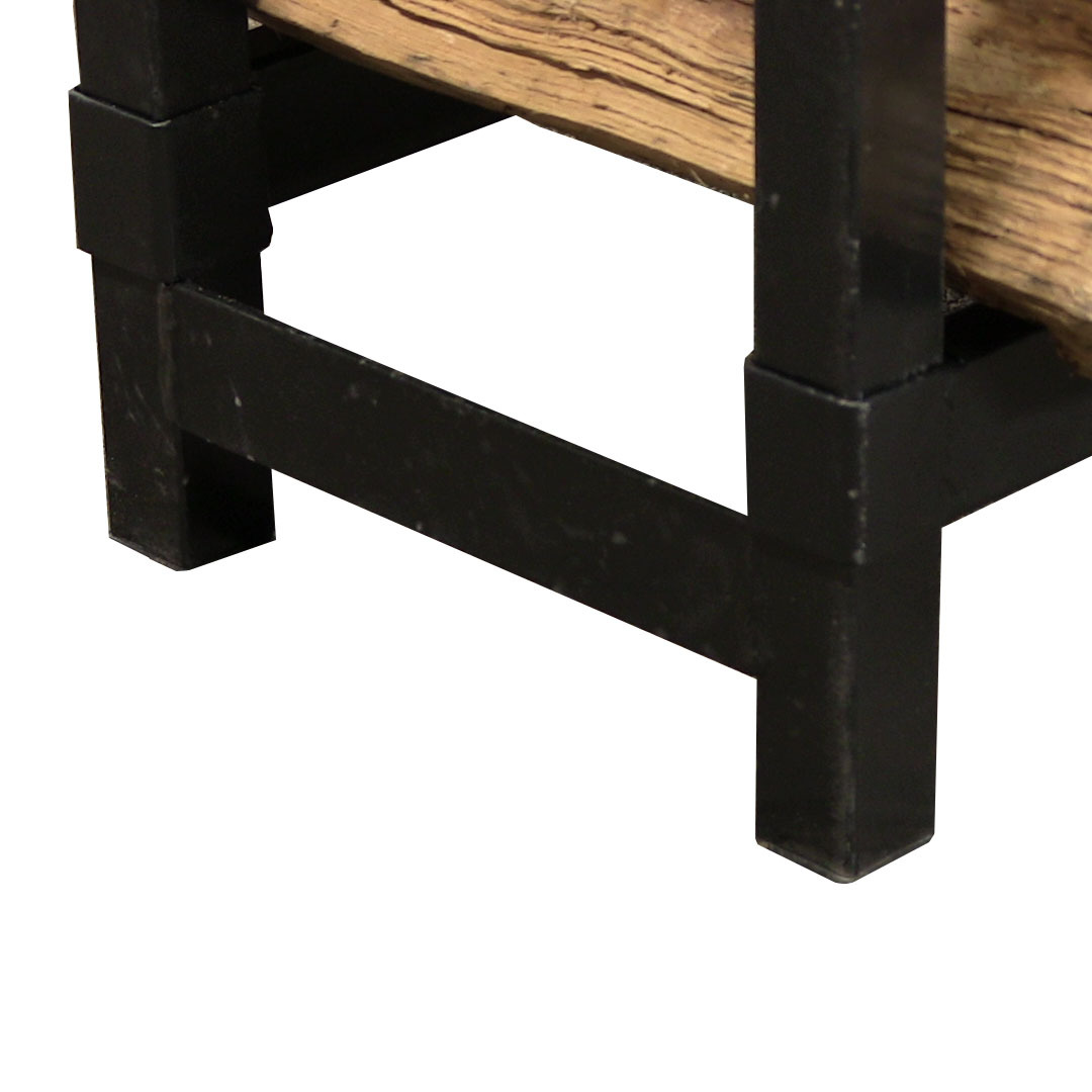 Details about Indoor Firewood Log Rack, 2-Foot, Steel, Strong, Storage ...