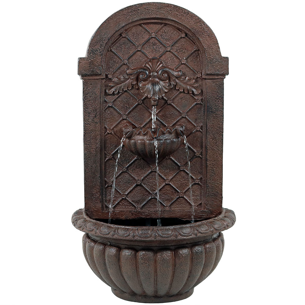 Venetian outdoor wall fountain solar powered lightweight for Outdoor wall fountains