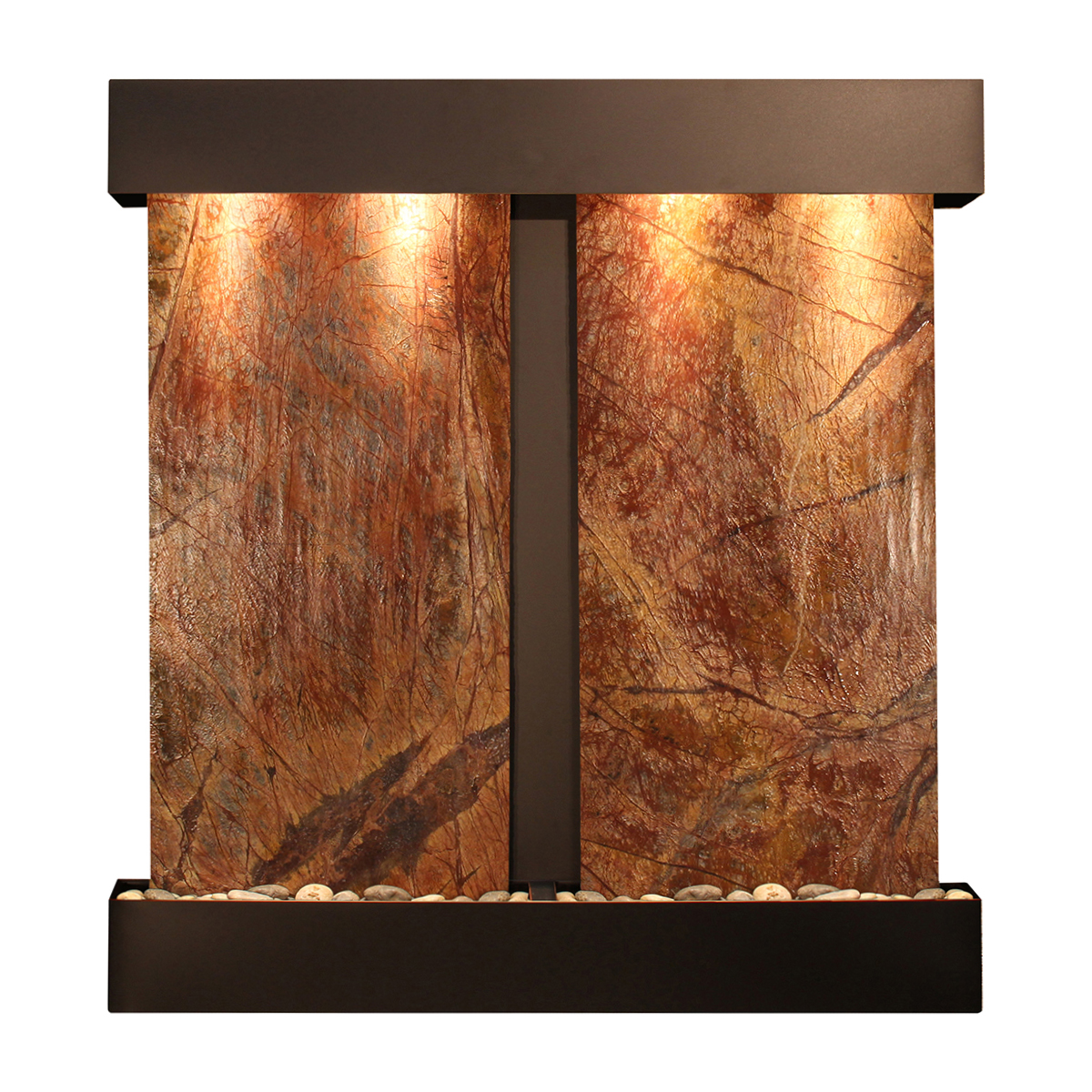 Falls Fountain Squared Brown Marble