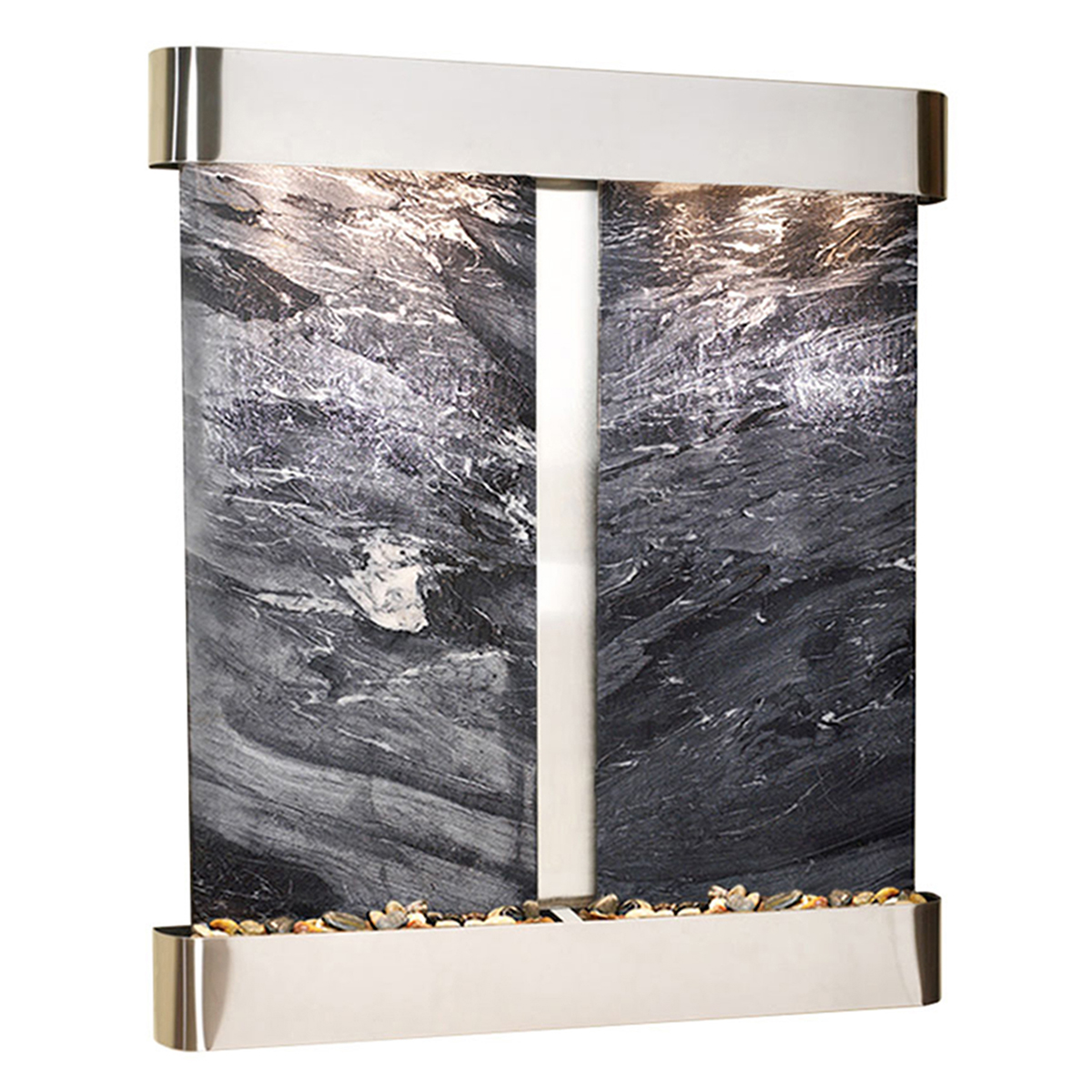 Falls Fountain Rounded Black Marble Photo