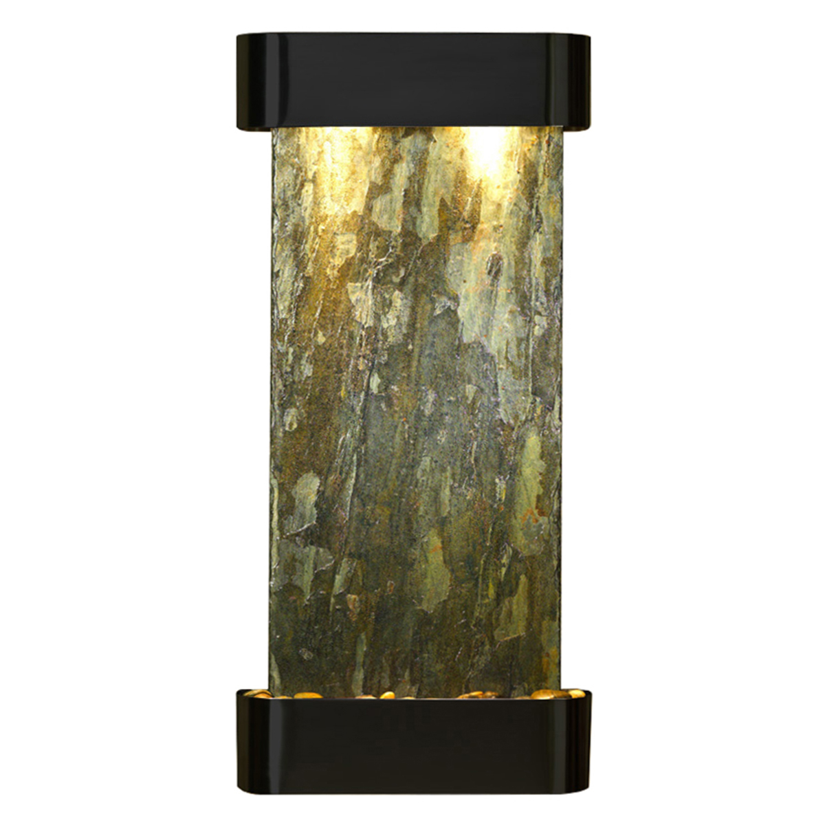 Cascade Springs Fountain Rounded Green Natural Slate Photo