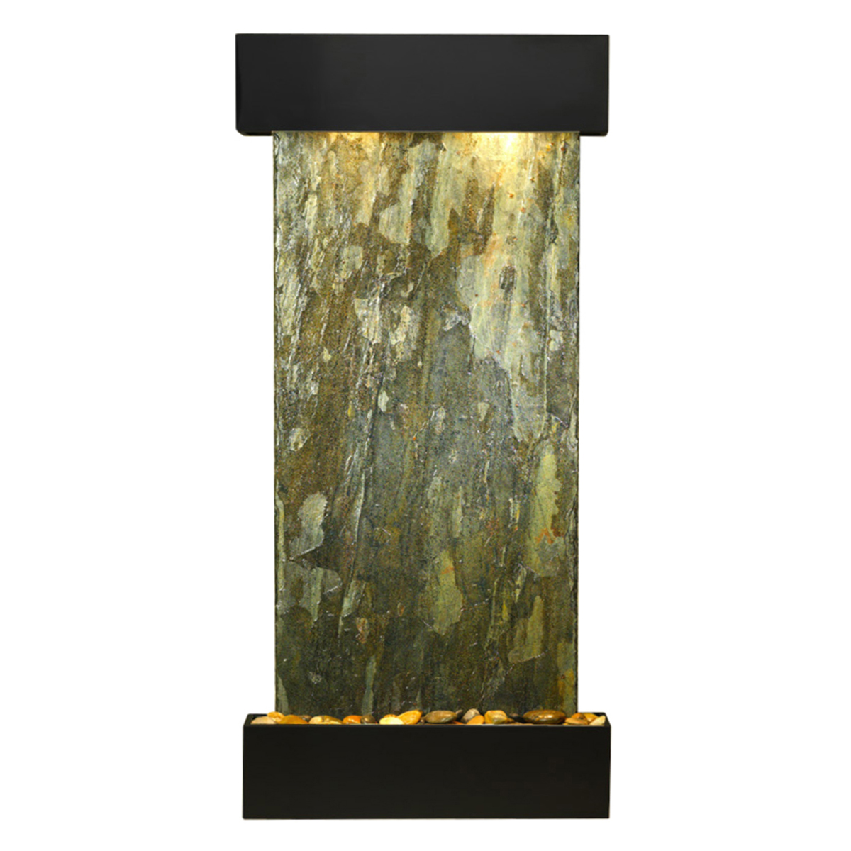 Cascade Springs Fountain Squared Green Natural Slate Photo