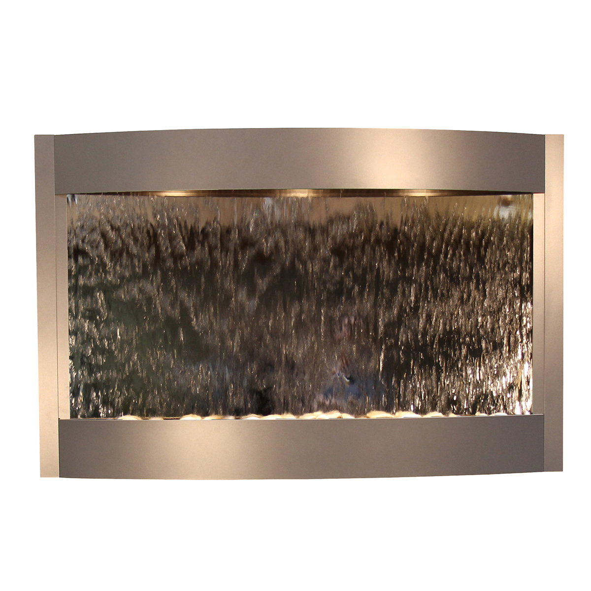 Calming Waters Fountain Silver Silver Mirror Photo