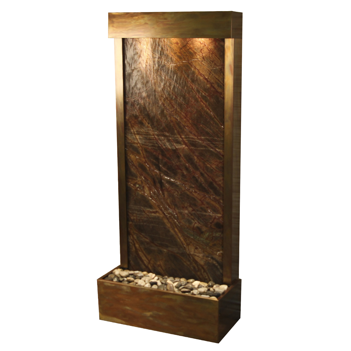 Harmony River Fountain Flush Mount Brown Marble Photo