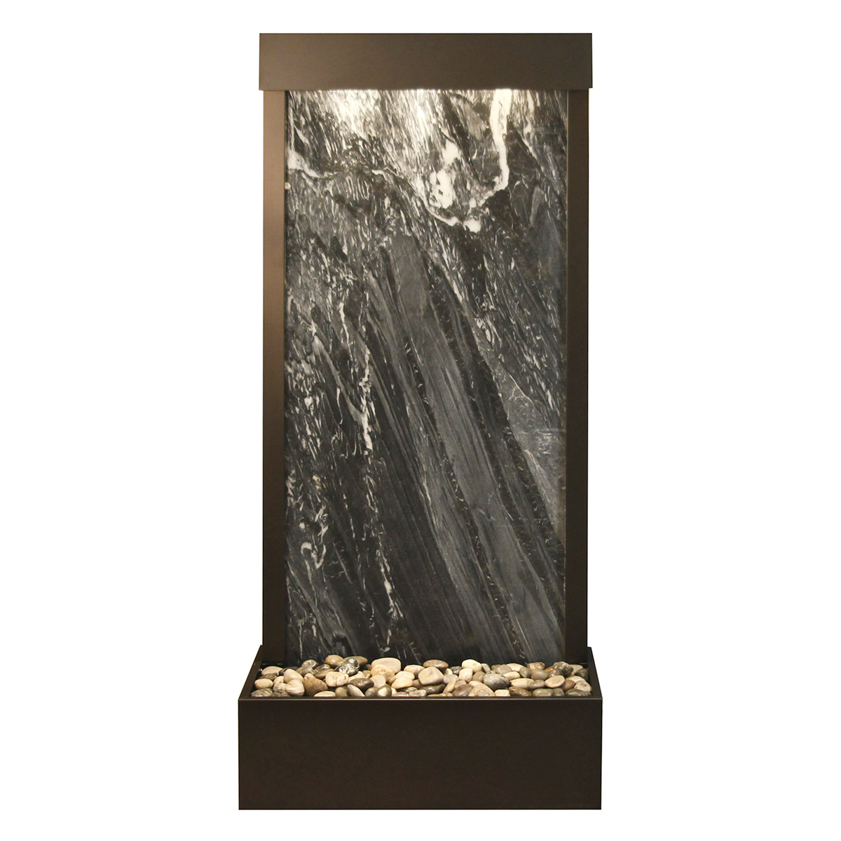 Harmony River Fountain Flush Mount Black Marble Photo