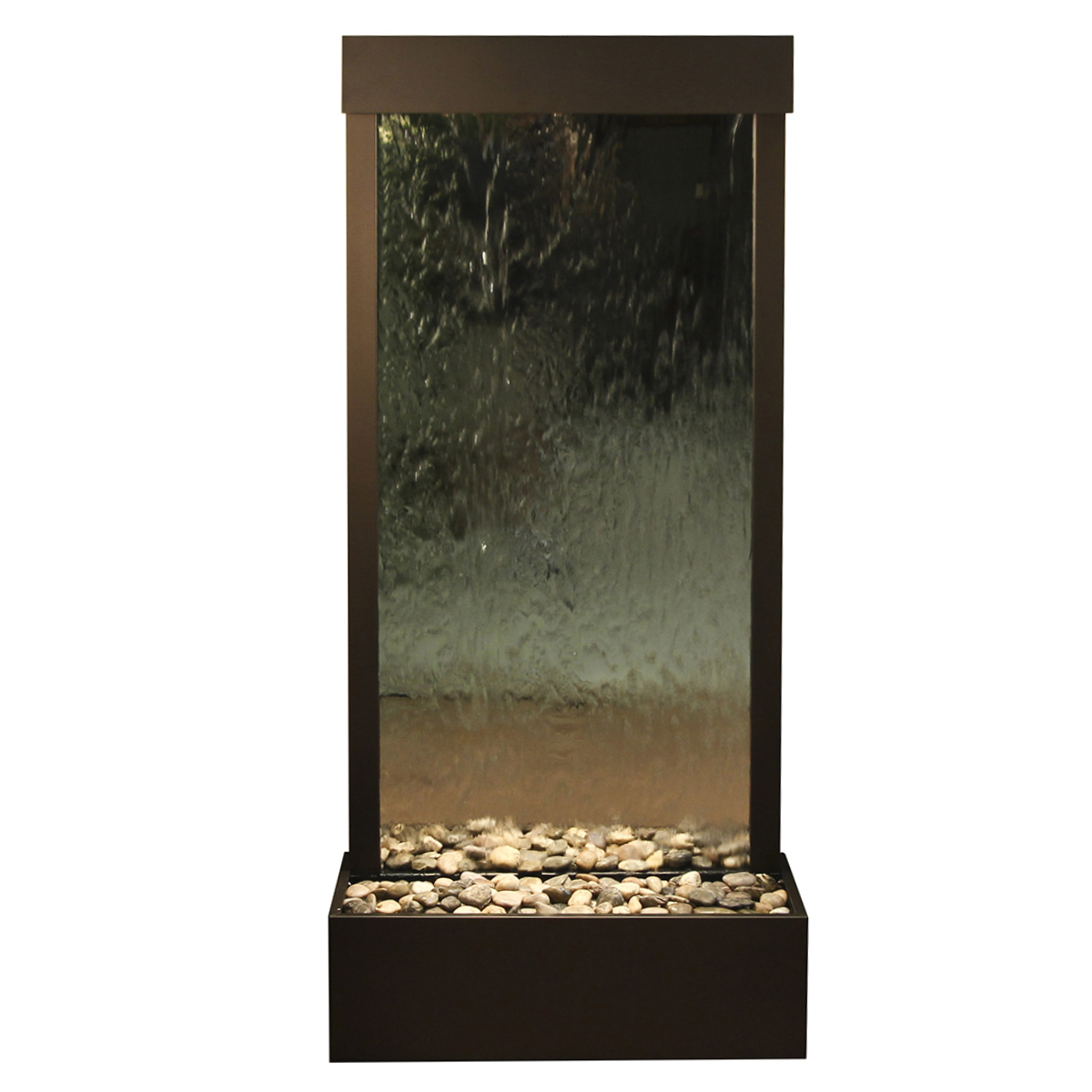 Harmony River Fountain Flush Mount Silver Mirror Photo
