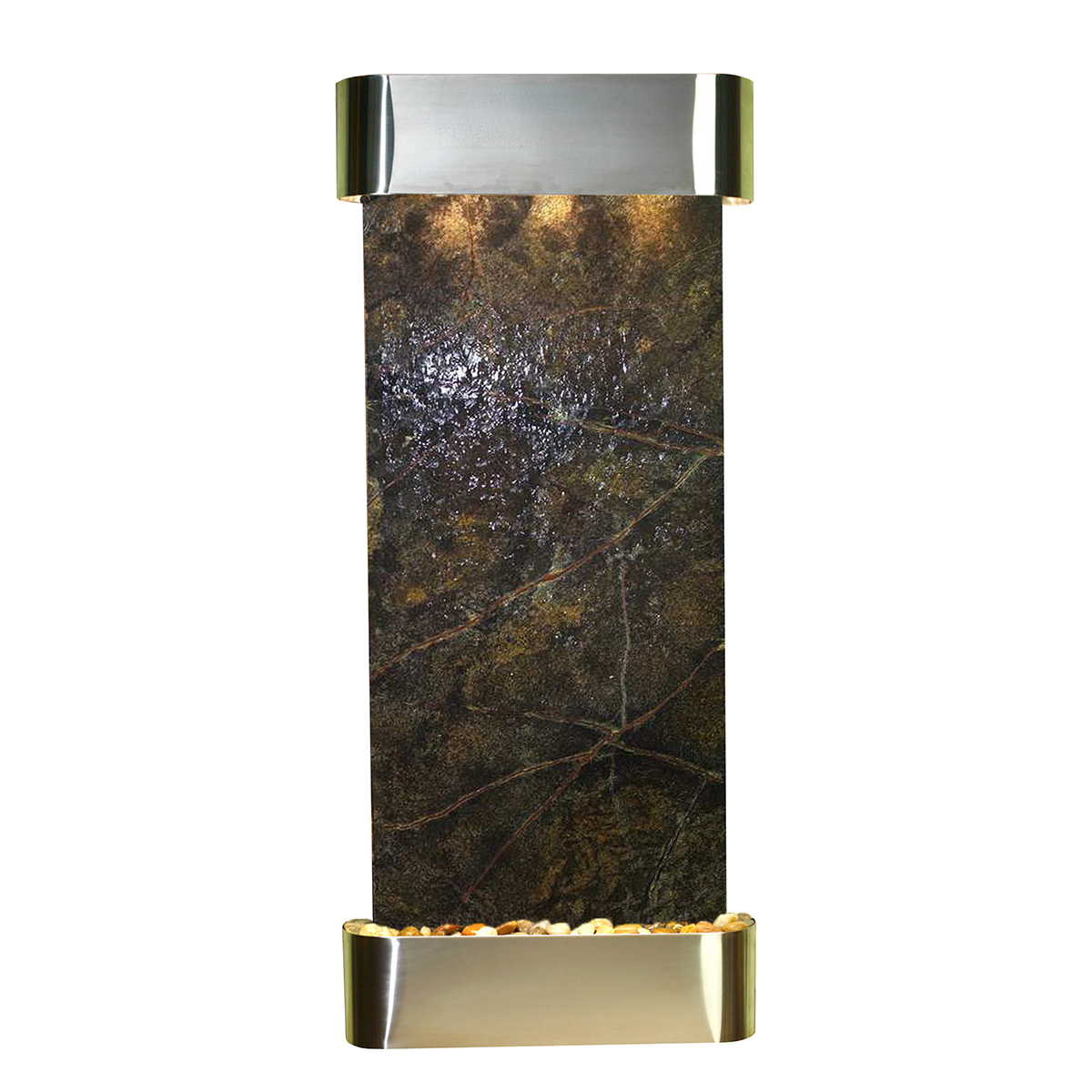 Inspiration Falls Fountain Rounded Green Marble Photo