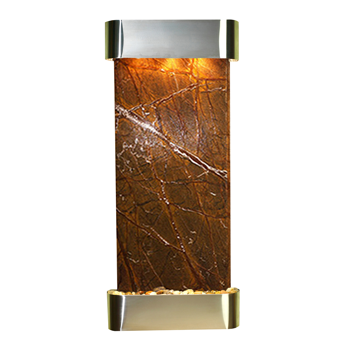 Inspiration Falls Fountain Rounded Brown Marble Photo