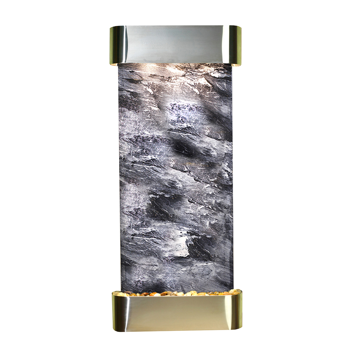 Inspiration Falls Fountain Rounded Black Marble Photo