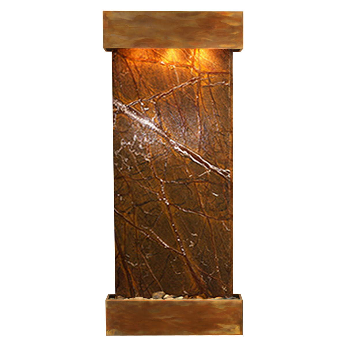 Inspiration Falls Fountain Squared Brown Marble Photo