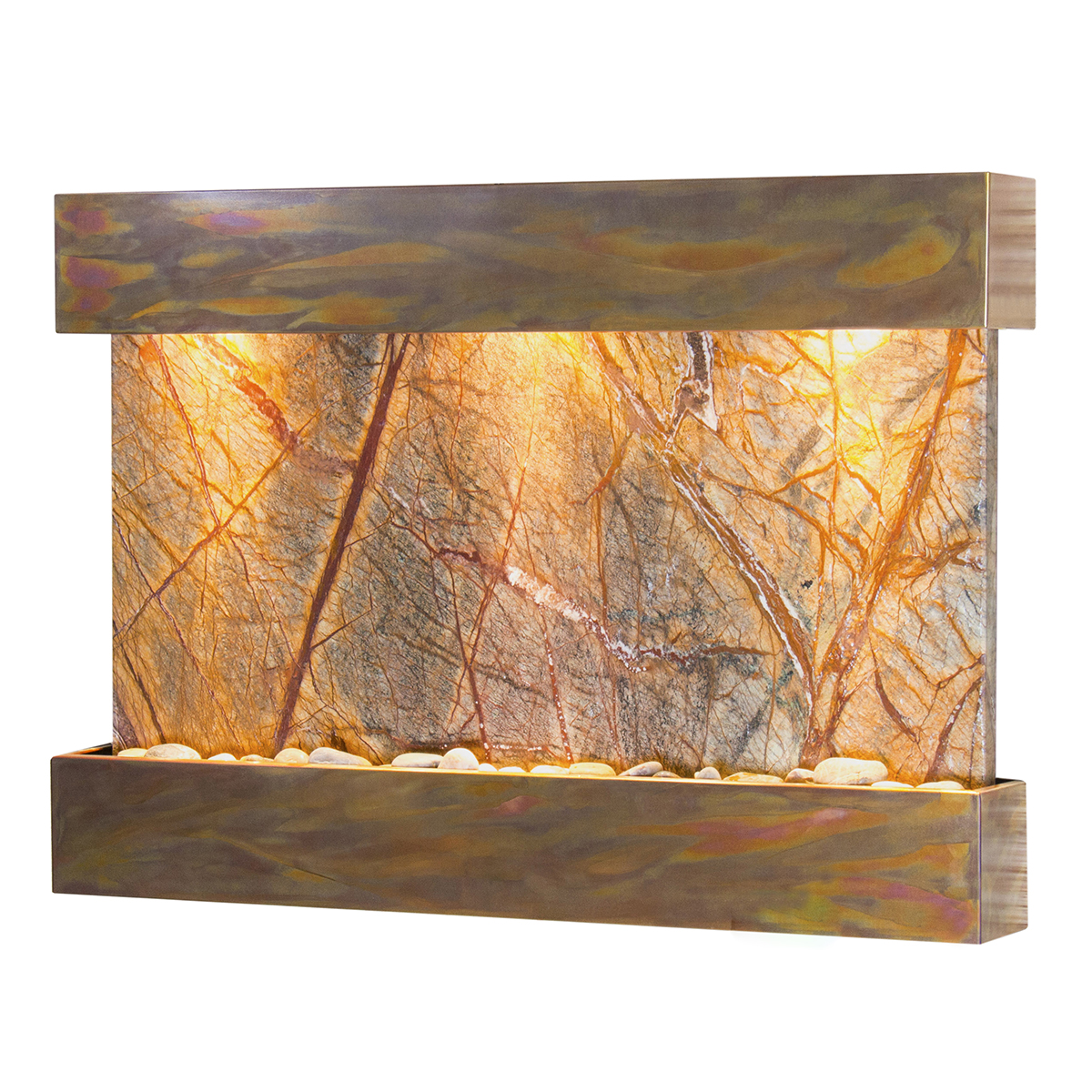 Reflection Creek Fountain Brown Marble