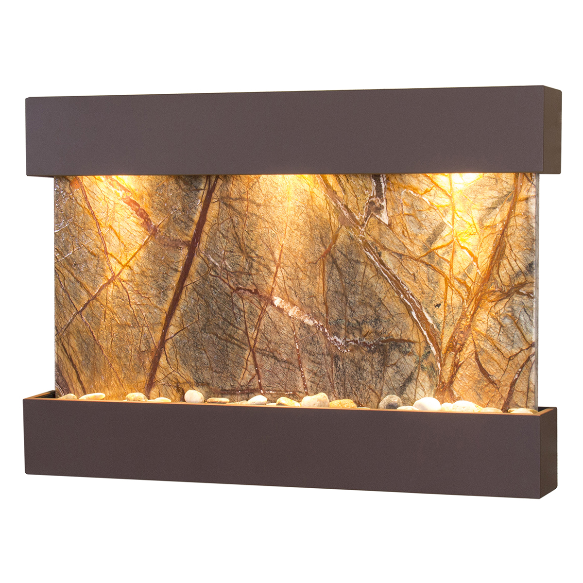 Reflection Creek Fountain Brown Brown Marble Photo