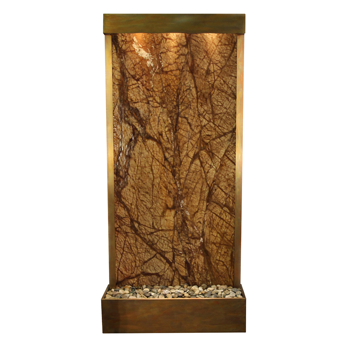 Tranquil River Fountain Flush Mount Brown Marble Photo
