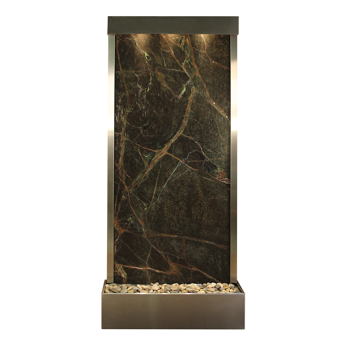 Tranquil River Fountain Flush Mount Green Marble Photo