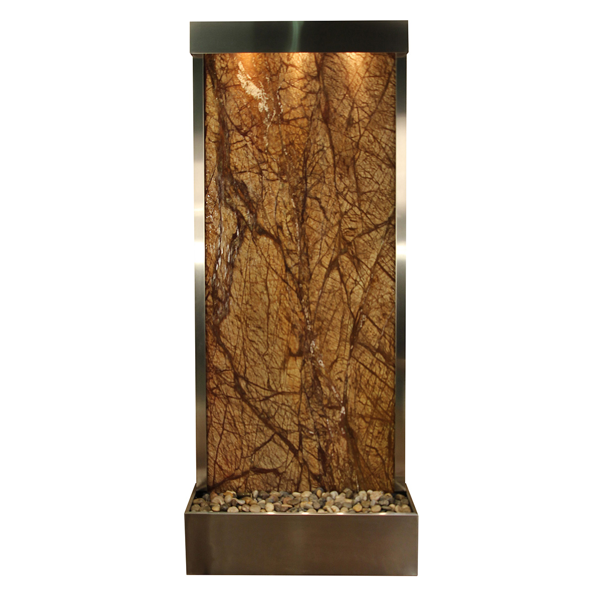 Tranquil River Fountain Flush Mount Brown Marble