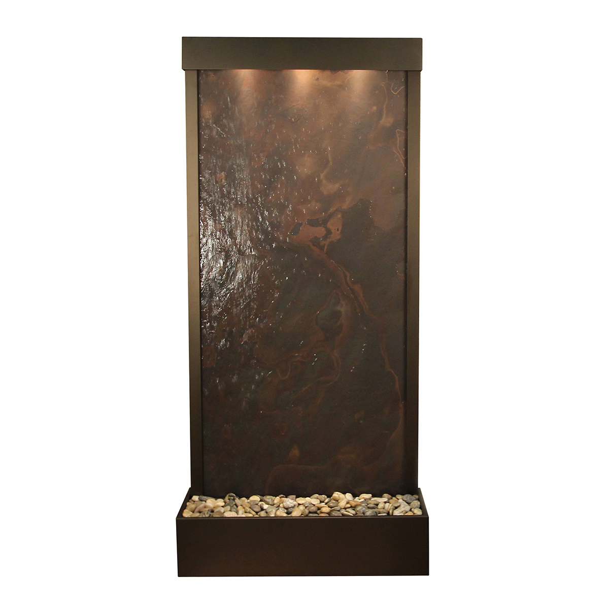Tranquil River Fountain Flush Mount Color Photo