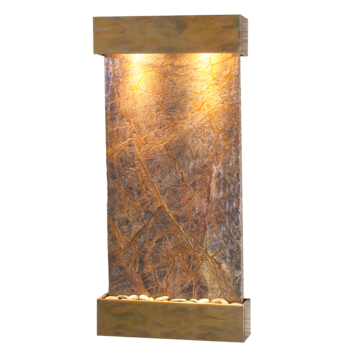 Whispering Creek Fountain Brown Marble