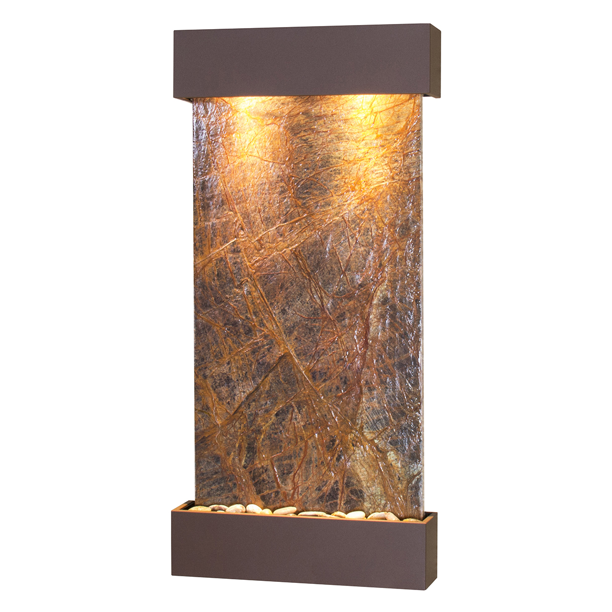 Whispering Creek Fountain Brown Brown Marble Photo
