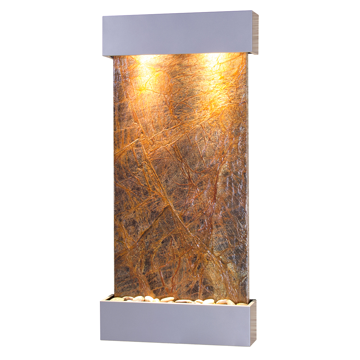 Whispering Creek Fountain Silver Brown Marble Photo