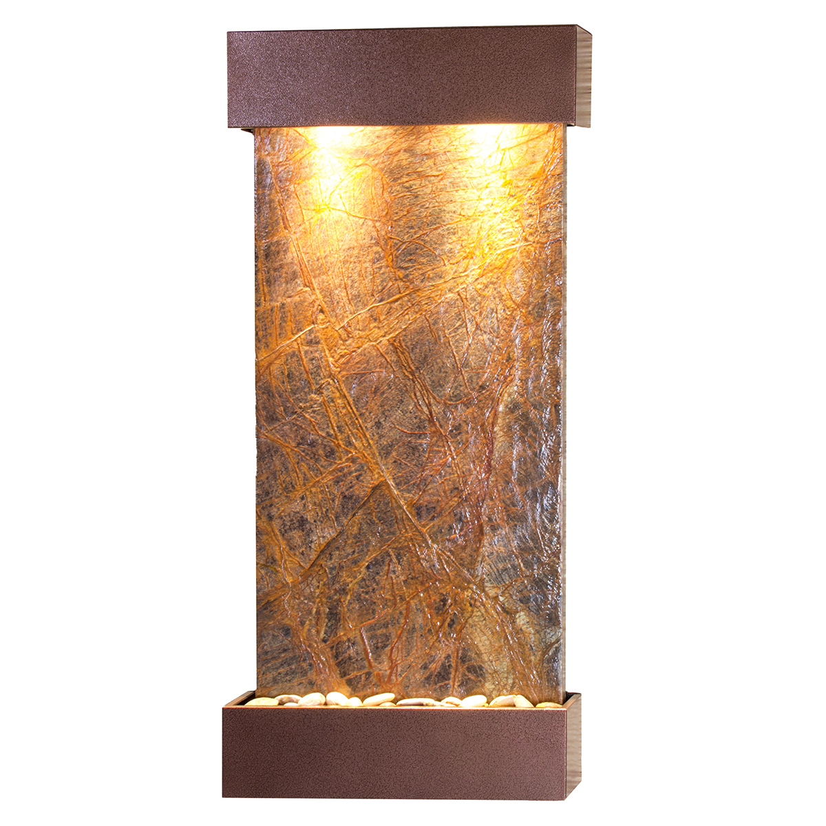 Whispering Creek Fountain Vein Brown Marble Photo