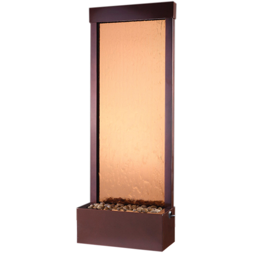 Gardenfall Garden Water Fountain Bronze Mirror Dark Copper Frame Picture 183