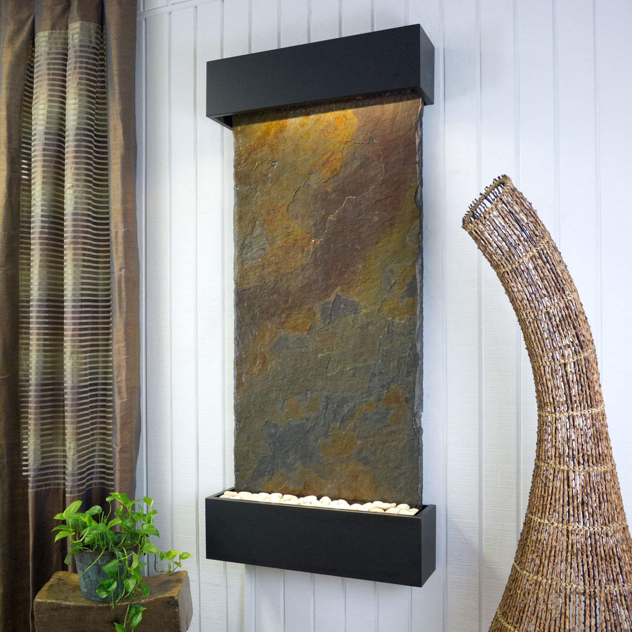 Classic Quarry Vertical Indoor Wall Fountain Raja Slate Picture 57