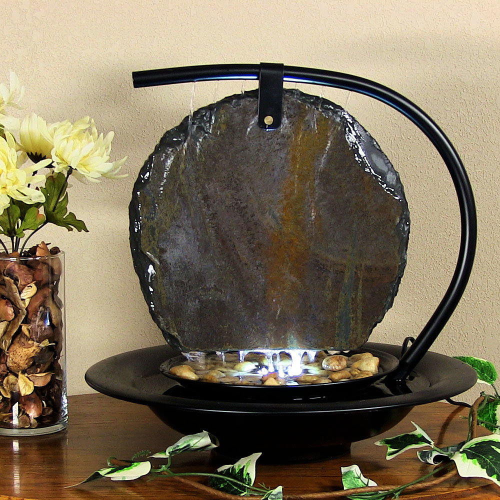 Water Wonders Zen Moonshadow Indoor Tabletop Fountain Image 69