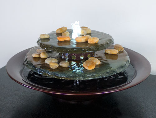 Tranquility Pool Tabletop Fountain Dark Copper  Picture 702