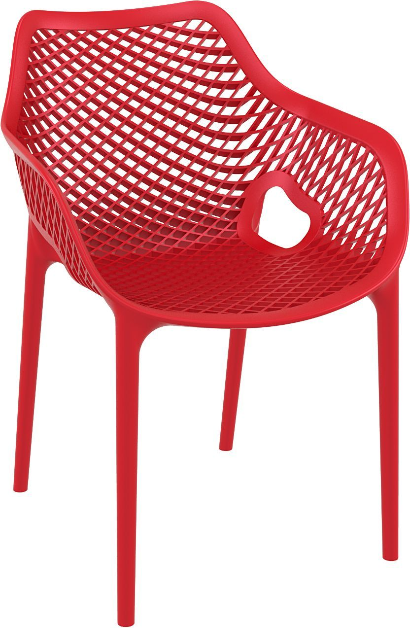 Dining Arm Chair Red Photo