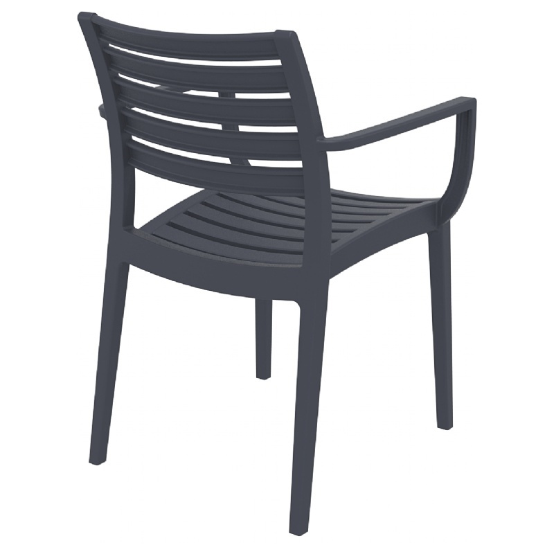 Dining Arm Chair Dark Gray Photo
