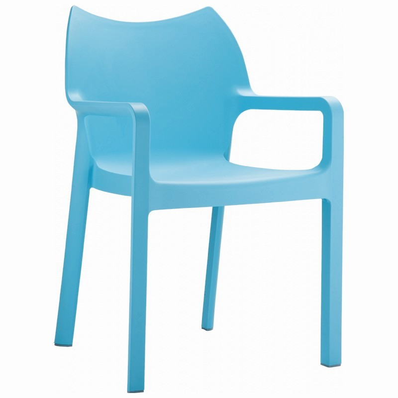 Diva Resin Outdoor Dining Arm Chair Light Blue Image 832