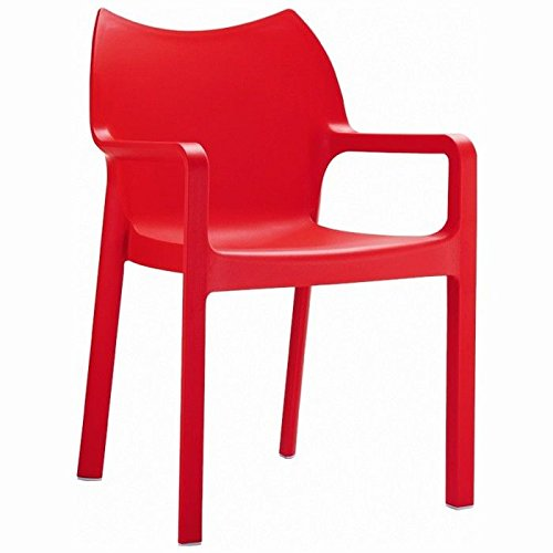 Stacking Dining Arm Chair Red Photo