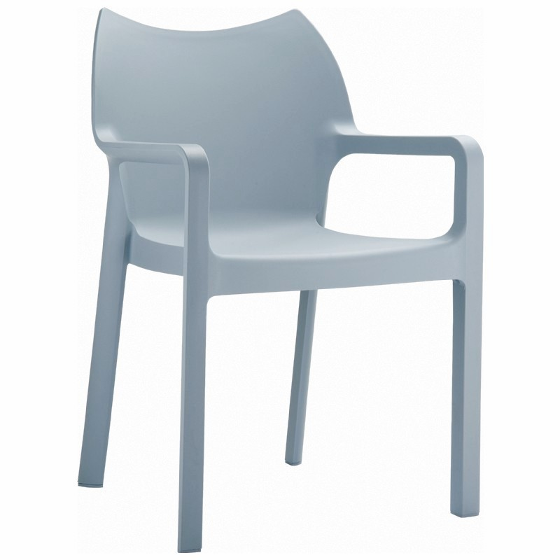 Diva Stackable Armchair Silver Image 966