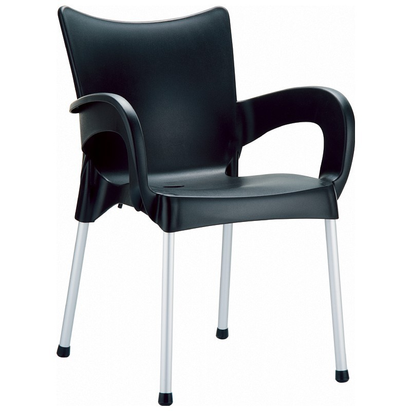 Stacking Dining Arm Chair  Black Photo