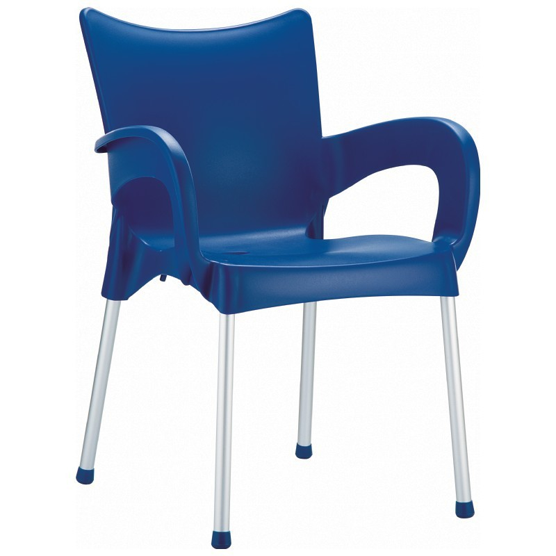 Stacking Dining Arm Chair  Dark Blue