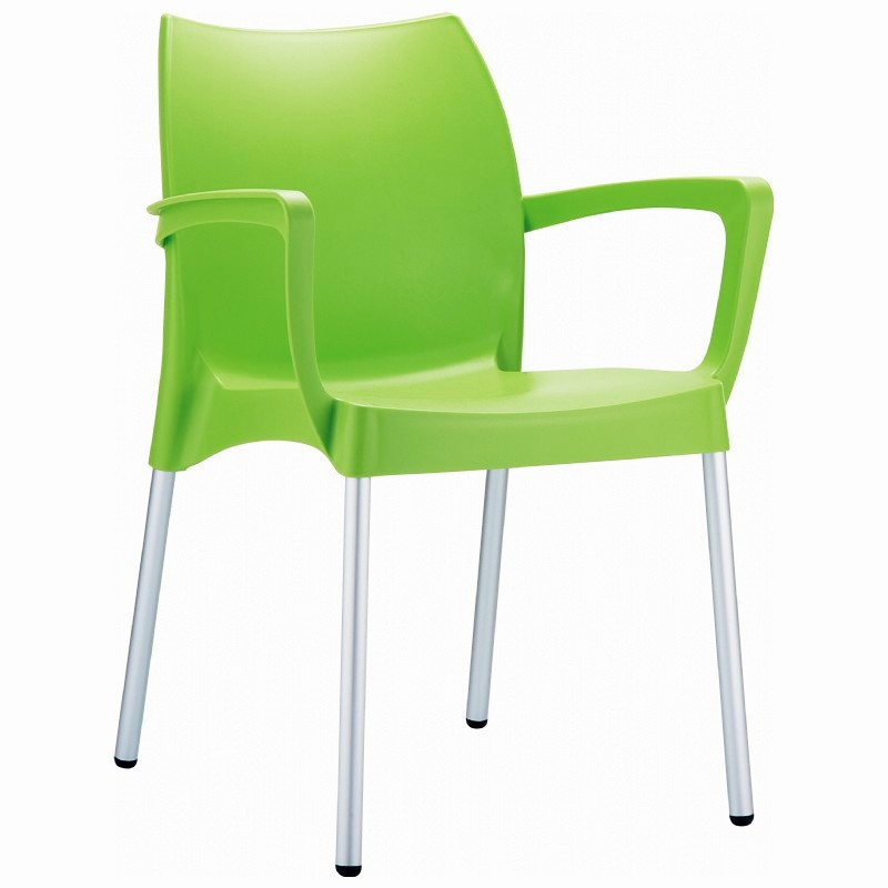 Stacking Dining Arm Chair  Apple Green Photo