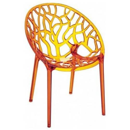 Crystal Chair Transparent Orange Photo