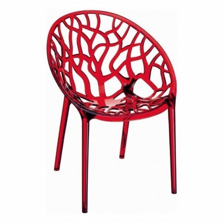 Crystal Chair Transparent Red Photo